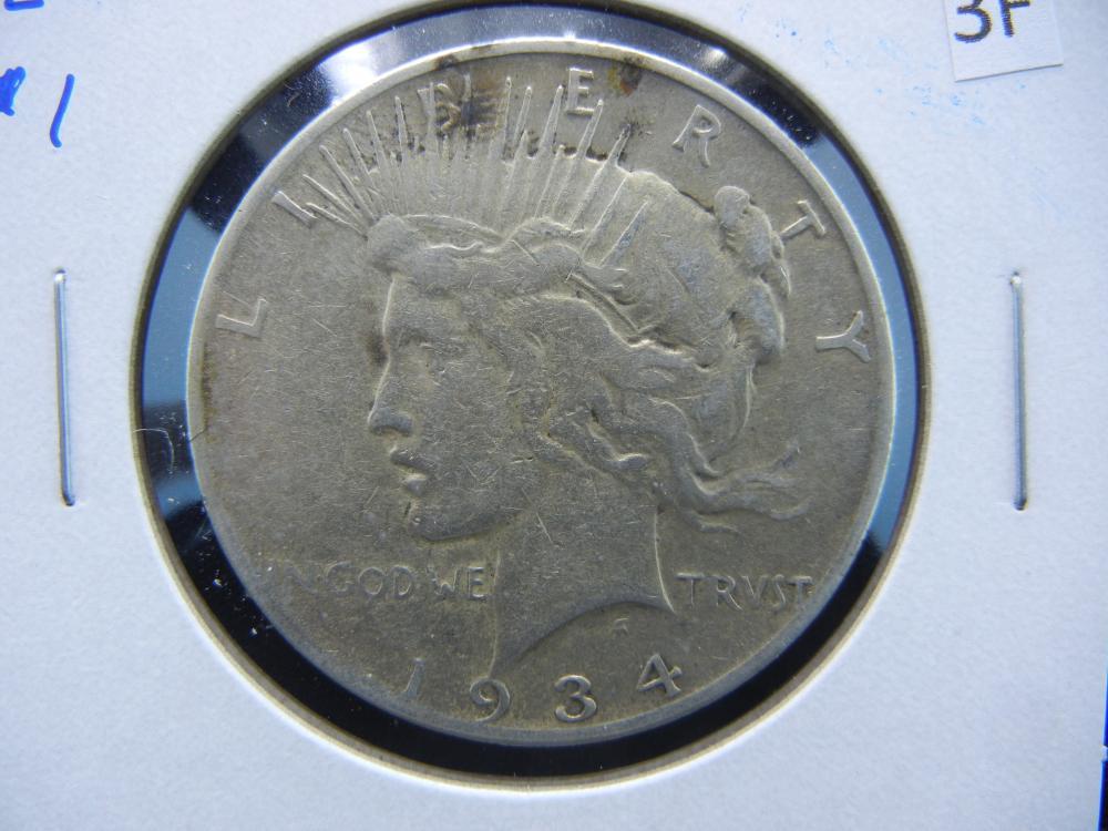 1934-S Peace $1.  Scarce Date.