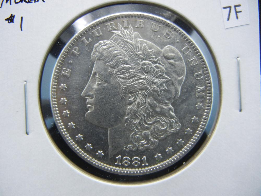 1881-O Morgan $1.  AU/UNC.