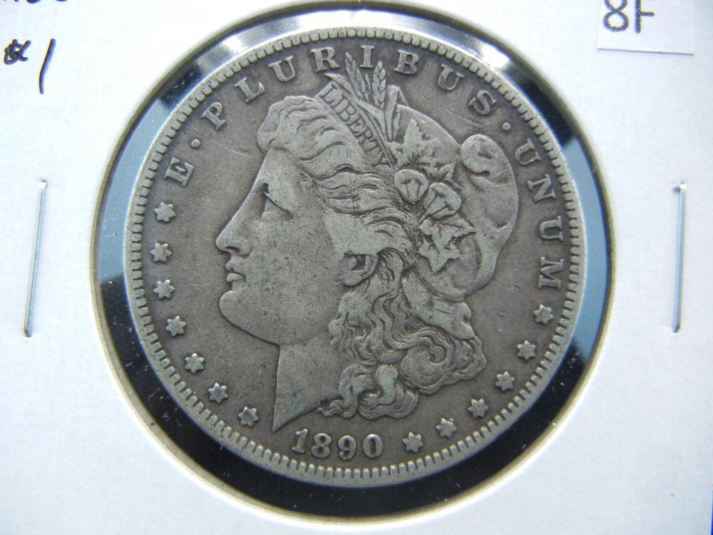 1890-S Morgan $1.  XF.