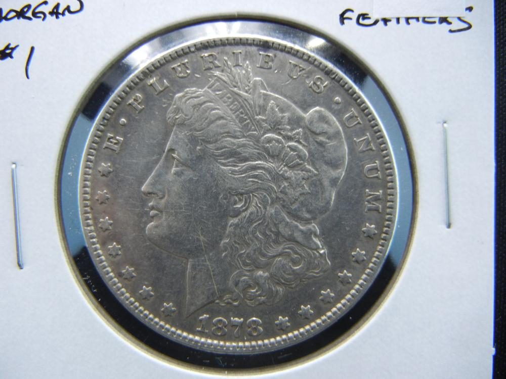 1878 Morgan $1.  7 Tail Feathers.