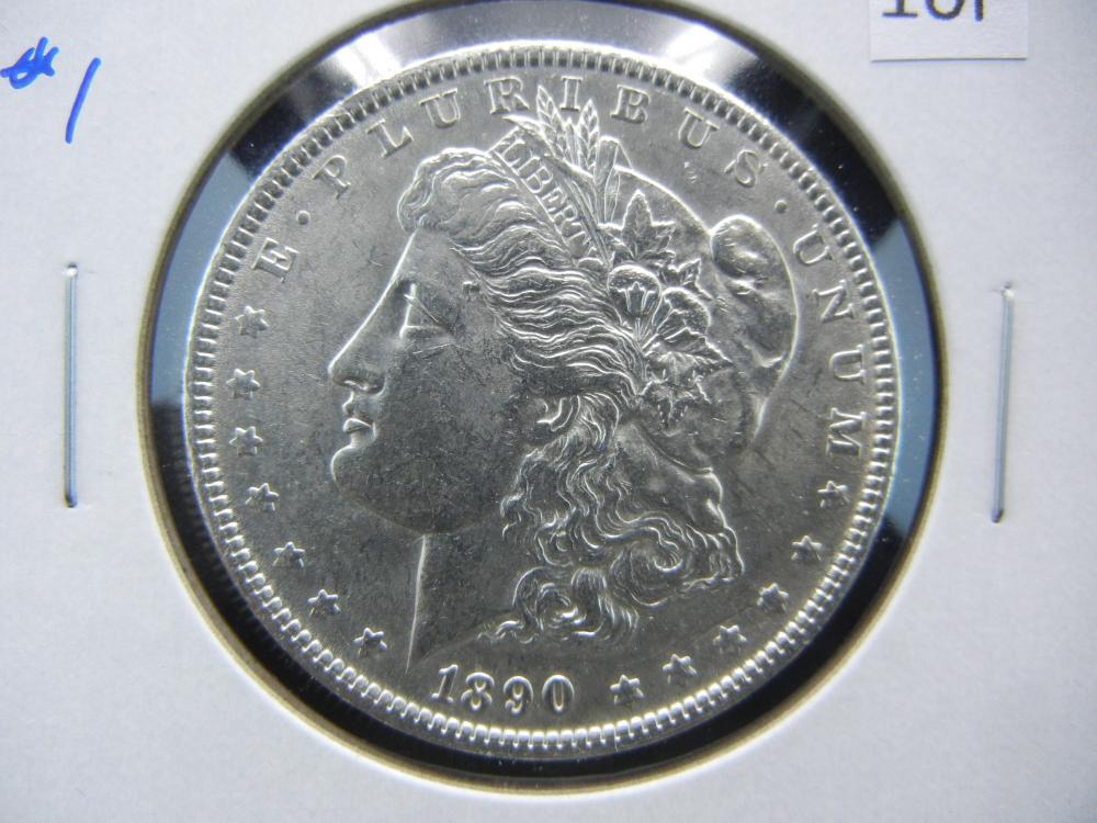 1890 Morgan $1.  UNC Details.