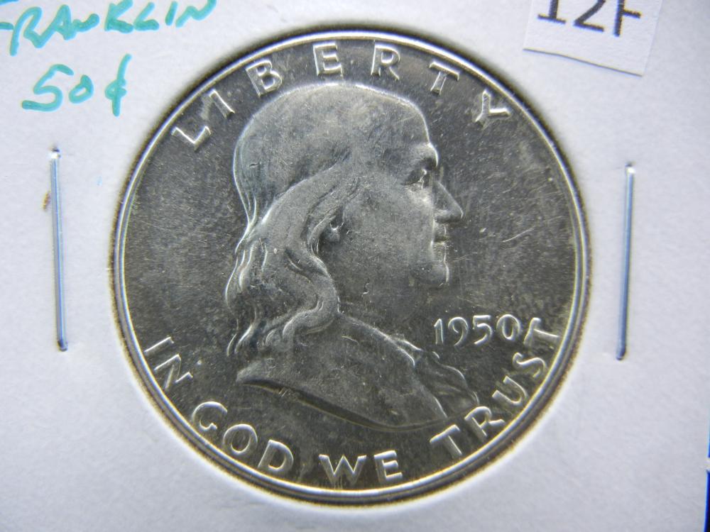 1950 Franklin Half Dollar.  UNC.