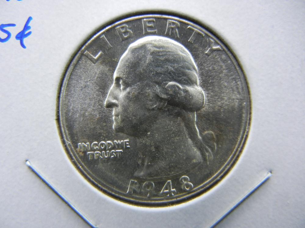 1948-D Washington Quarter.  Gem BU.