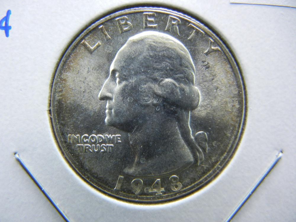 1948-S Washington Quarter.  Gem BU.
