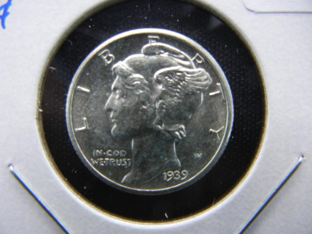 1939-D Mercury Dime.  Choice UNC.