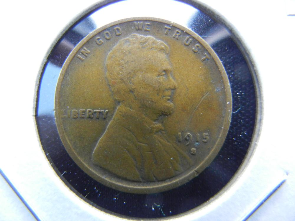 1915-S Lincoln Wheat Cent . VF Details.