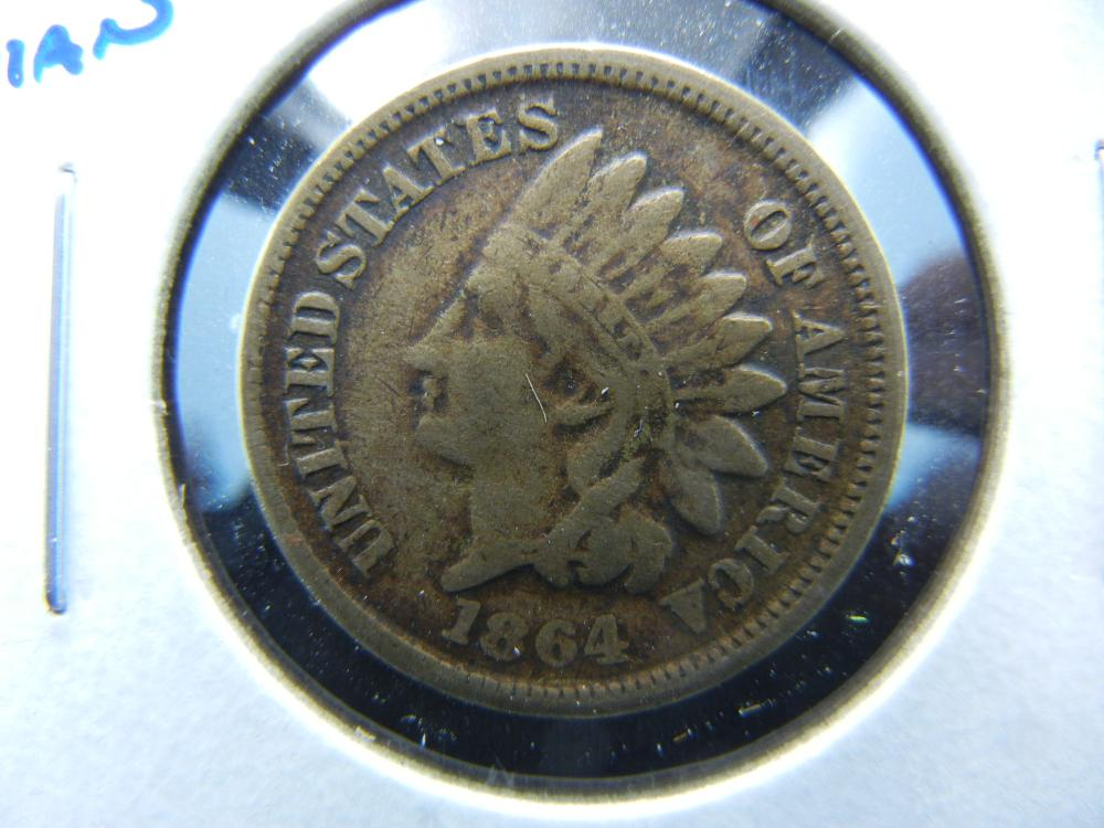 1864 Copper Nickel Indian One Cent .  XF Detail.