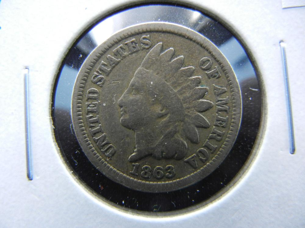 1863 Indian One Cent .  VG.