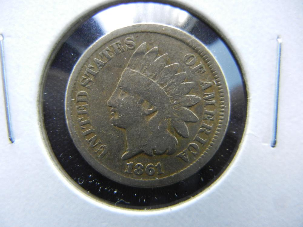 1861 Indian One Cent .  VG.