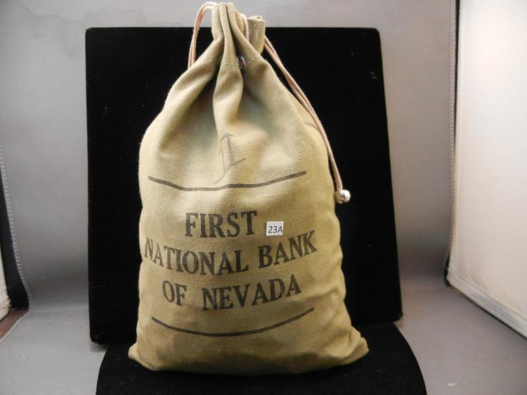 12 Pound First National Bank of Nevada Cloth Bag of Wheat