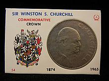 1965 1 Crown from Great Britain Commemorating Sir Winston Churchill