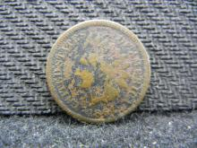 1864-L Pointed Bust Indian Head cent. Very Good detail. L Visible.