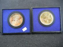 1972 Sons of Liberty & 1976 Declaration of Independence US Mint bronze medals.