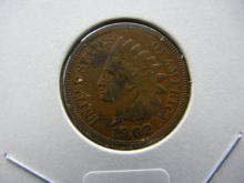 1902 Indian Head cent. Extremely Fine.