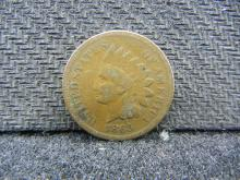 1865 Indian Head cent. Very Good. Civil War issue.