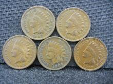 (2) 1906, (2) 1907, & 1908 Indian Head Cents