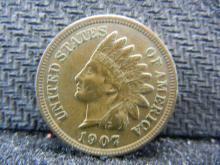 1907 Indian Head Cent - Full Liberty