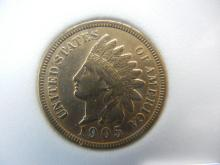 1905 Indian Head Cent - Full Liberty, Beads, & Ribbon