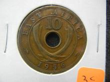 1956 East Africa, 10 Cents, Uncirculated