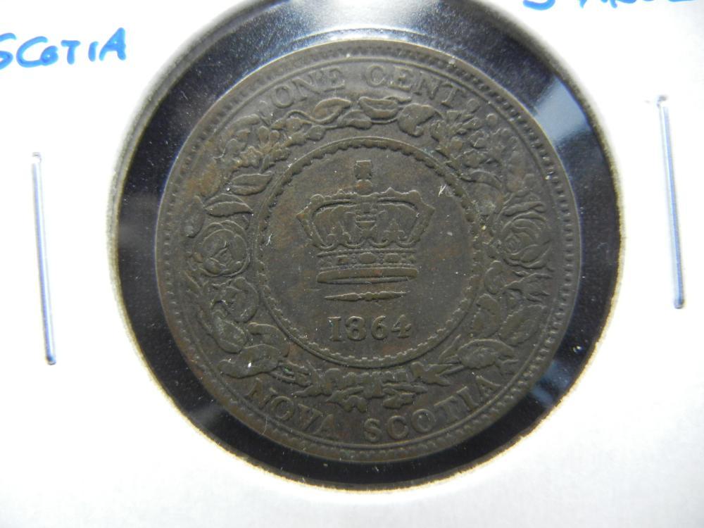 1864 Nova Scotia One Cent .  Scarce.