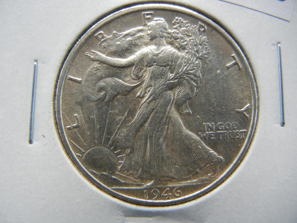 1946-S Walking Liberty Half Dollar .  UNC.