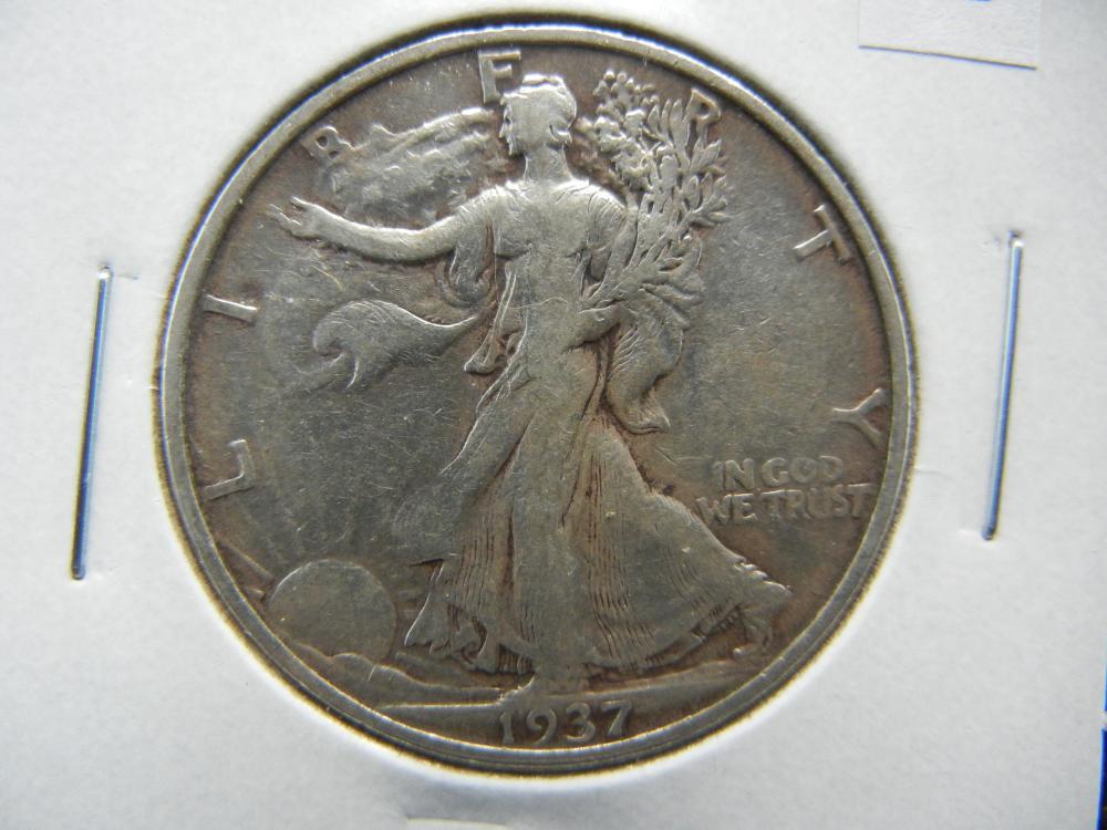 1937-S Walking Liberty Half Dollar .