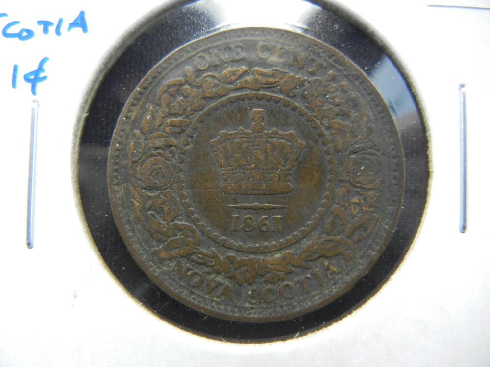 1861 Nova Scotia One Cent .  Scarce.
