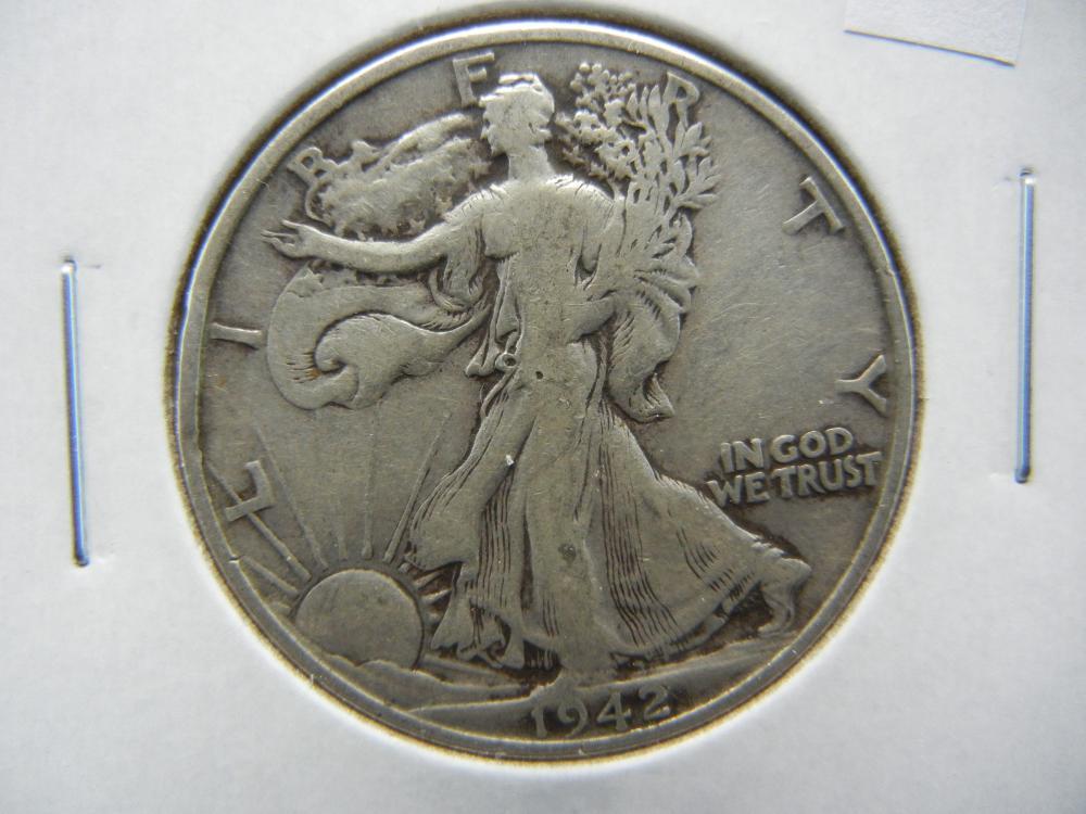 1942-D Walking Liberty Half Dollar .