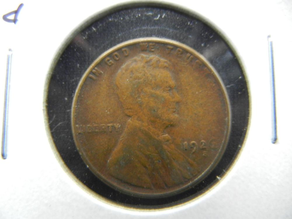 1926-S Lincoln One Cent .  Fine.
