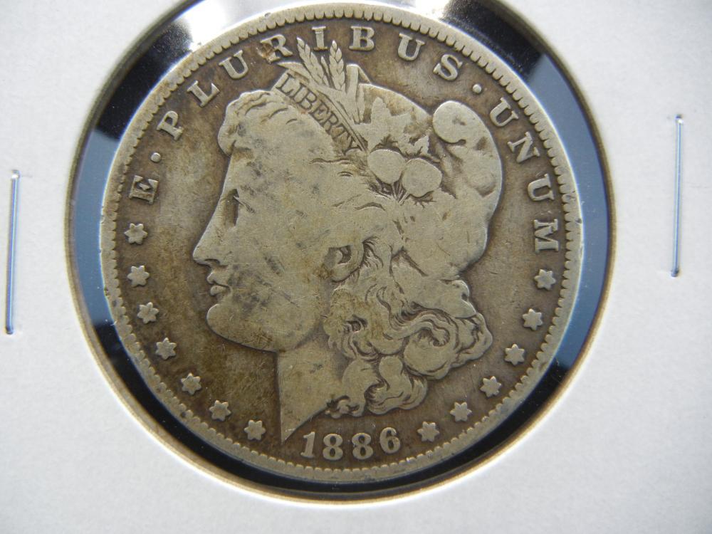 1886-O Morgan  One Dollar .