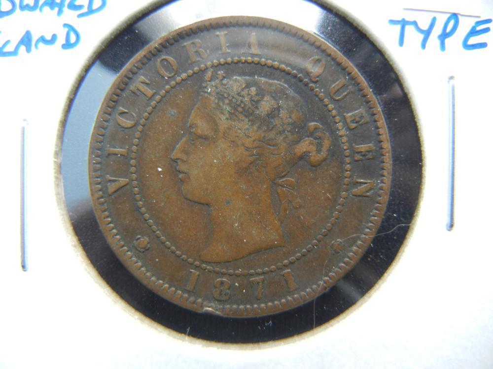 1871 Prince Edward Island One Cent .  1 Year Type.