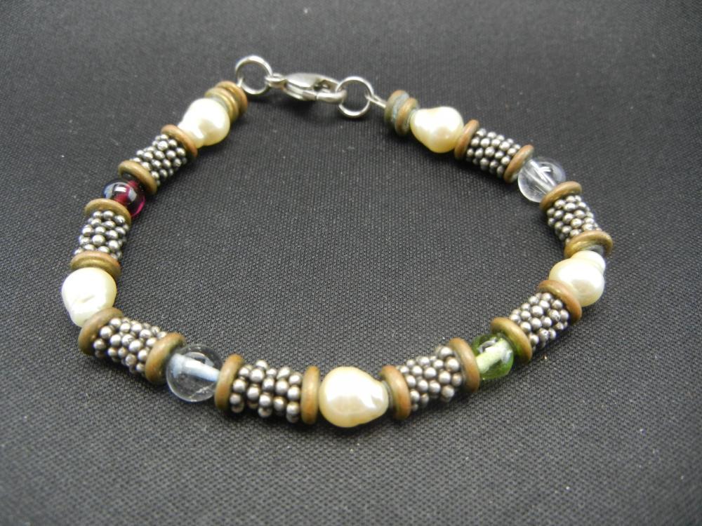 "Sterling Silver Bracelet.  6 3/4"" Long."
