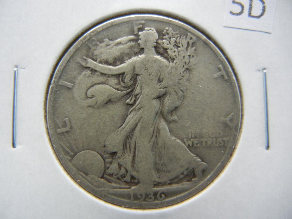 1936-S Walking Liberty Half Dollar