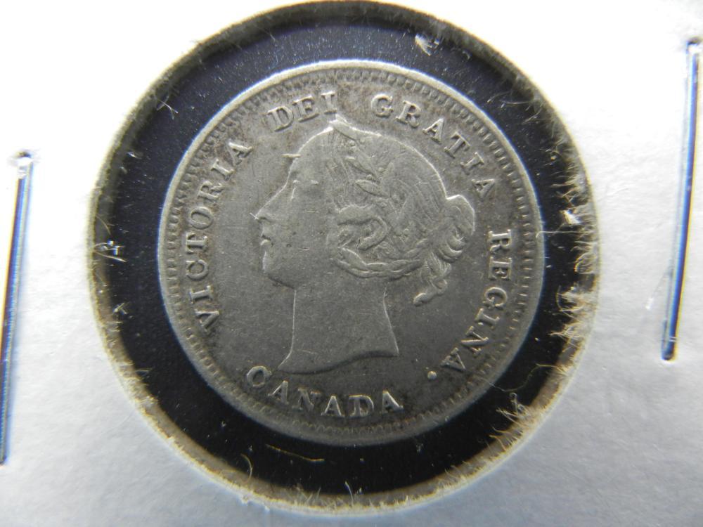 1888 Canada Nickel .  XF+.  Scarce.