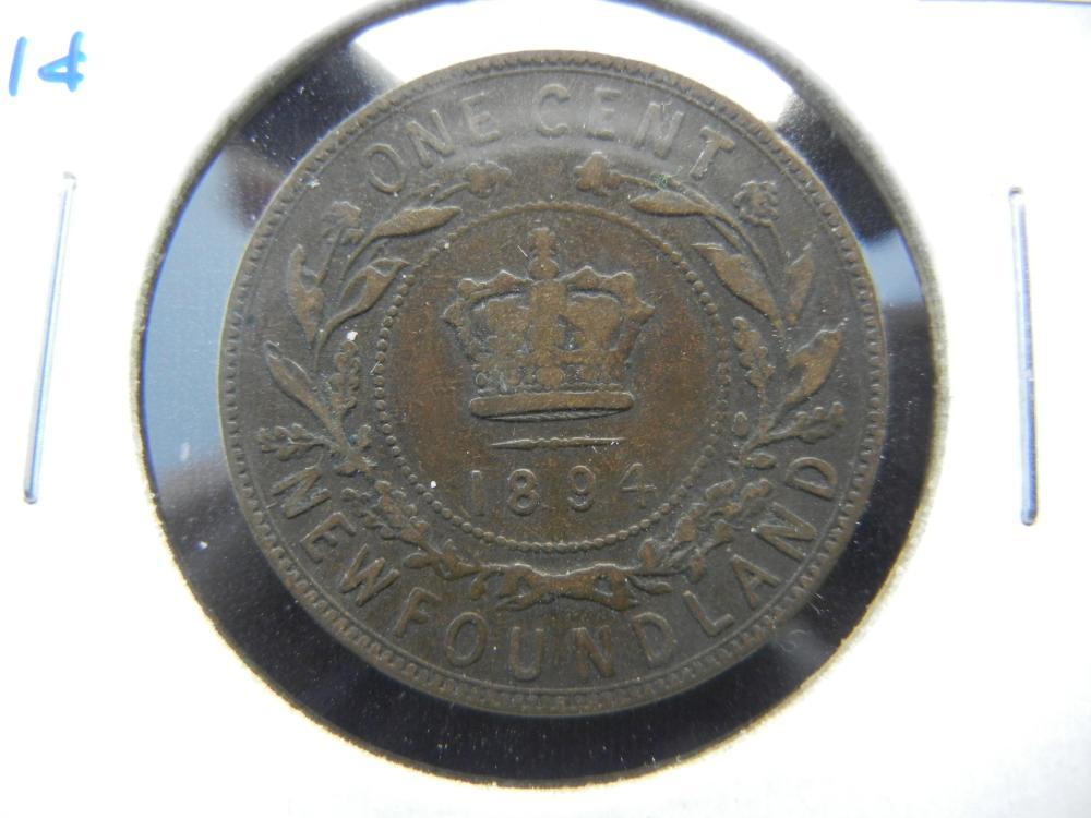 1894 Newfoundland One Cent .  Scarce.