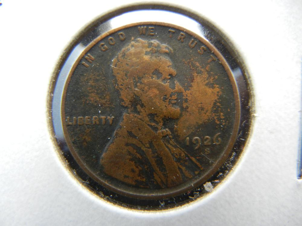 1926-S Lincoln One Cent .  VF.