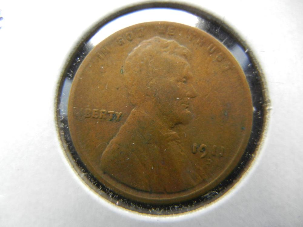 1911-D Lincoln One Cent .  Fine.