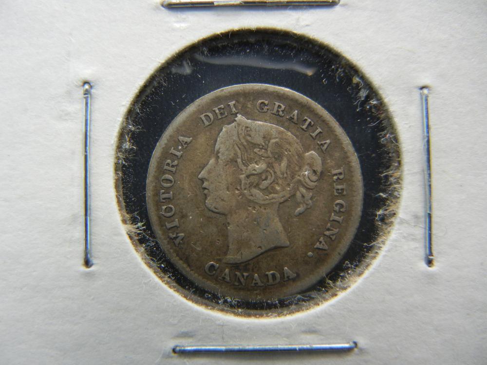 1898 Canada Silver Nickel .  VF.  Scarce Date.