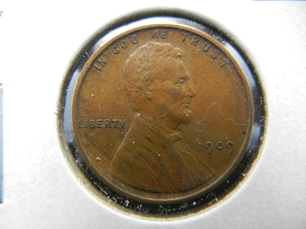 1909 Lincoln One Cent .  AU.