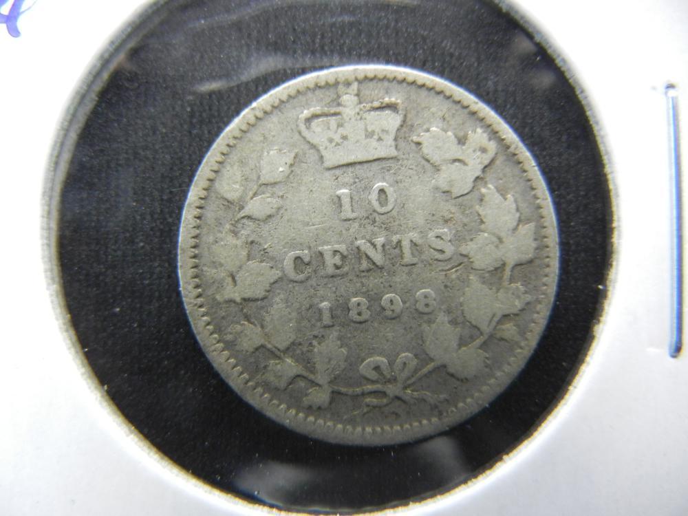 1898 Canada Dime.  Fine.