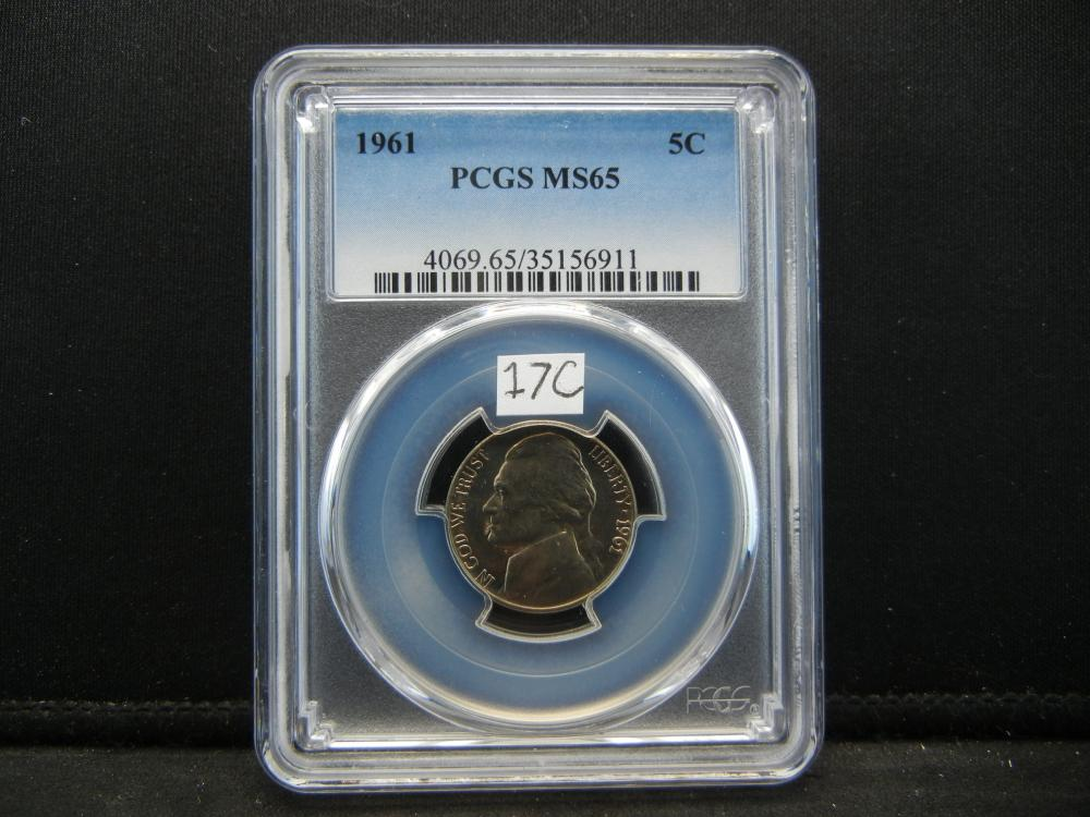 1961 Nickel .  PCGS MS65.