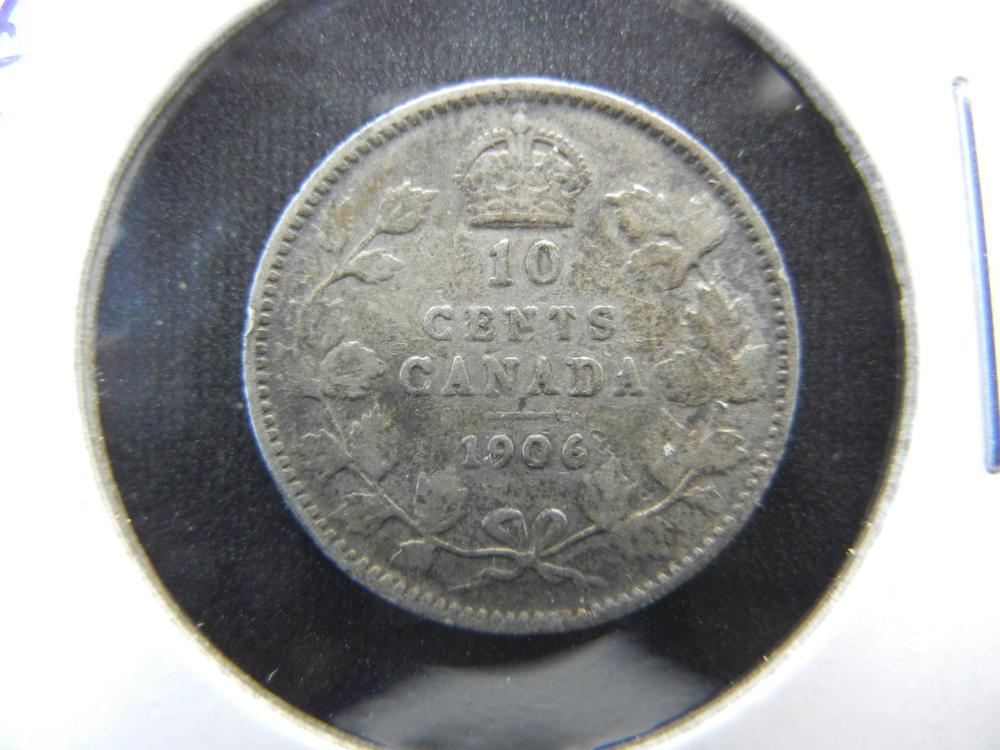 1906 Canada Dime.  XF.