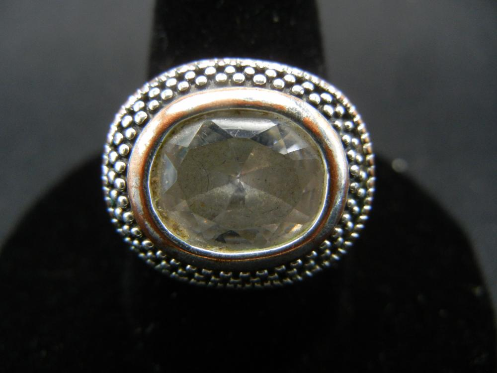 Sterling Silver Ring.  Size 9 1/2.