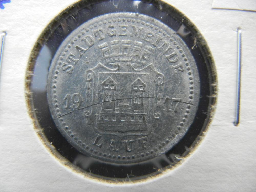 1917 Germany-Lauf 10 Pfennig Notgeld.  Rare.