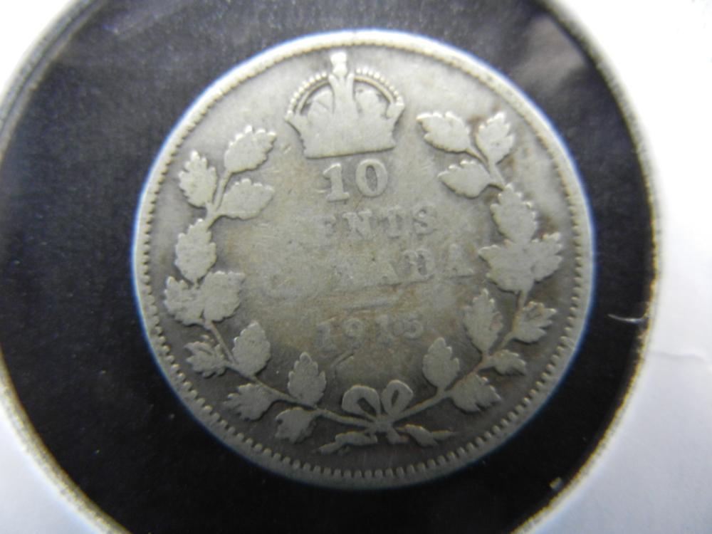 1915 Canada Dime.  Key Date.