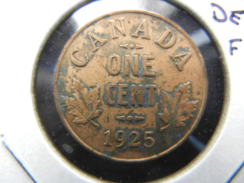 1925 Canada One Cent .  Key Date.  Nicely Detailed Filler.