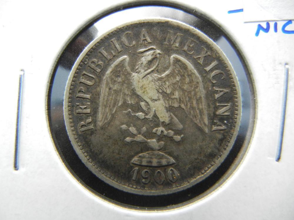 1902 Mexico Silver 20 Centavos.  Nice.