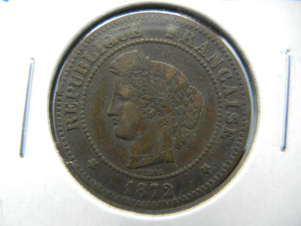 1872 France 5 Centimes.