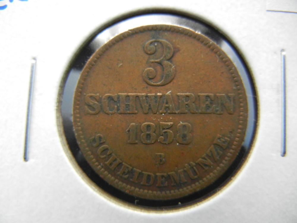 1858-B Germany 3 Schwaren.