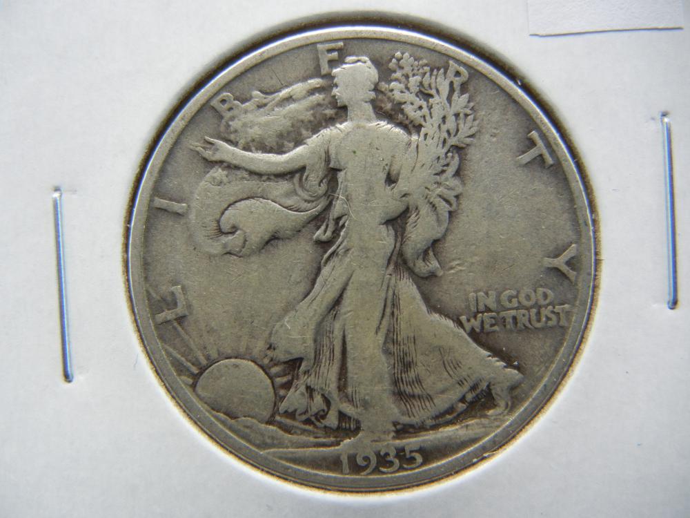 1935-D Half Dollar .  VF.